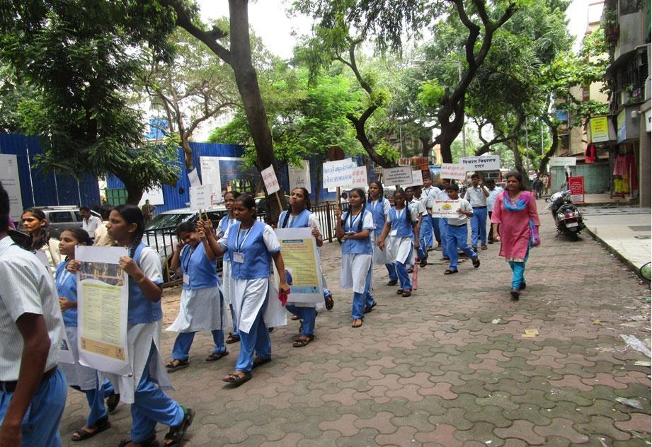 Vikas Vidyalaya students on an awareness rally on World Deaf Day