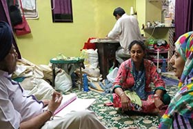 Palliative Care team from CanSupport visiting a patient at home in Delhi