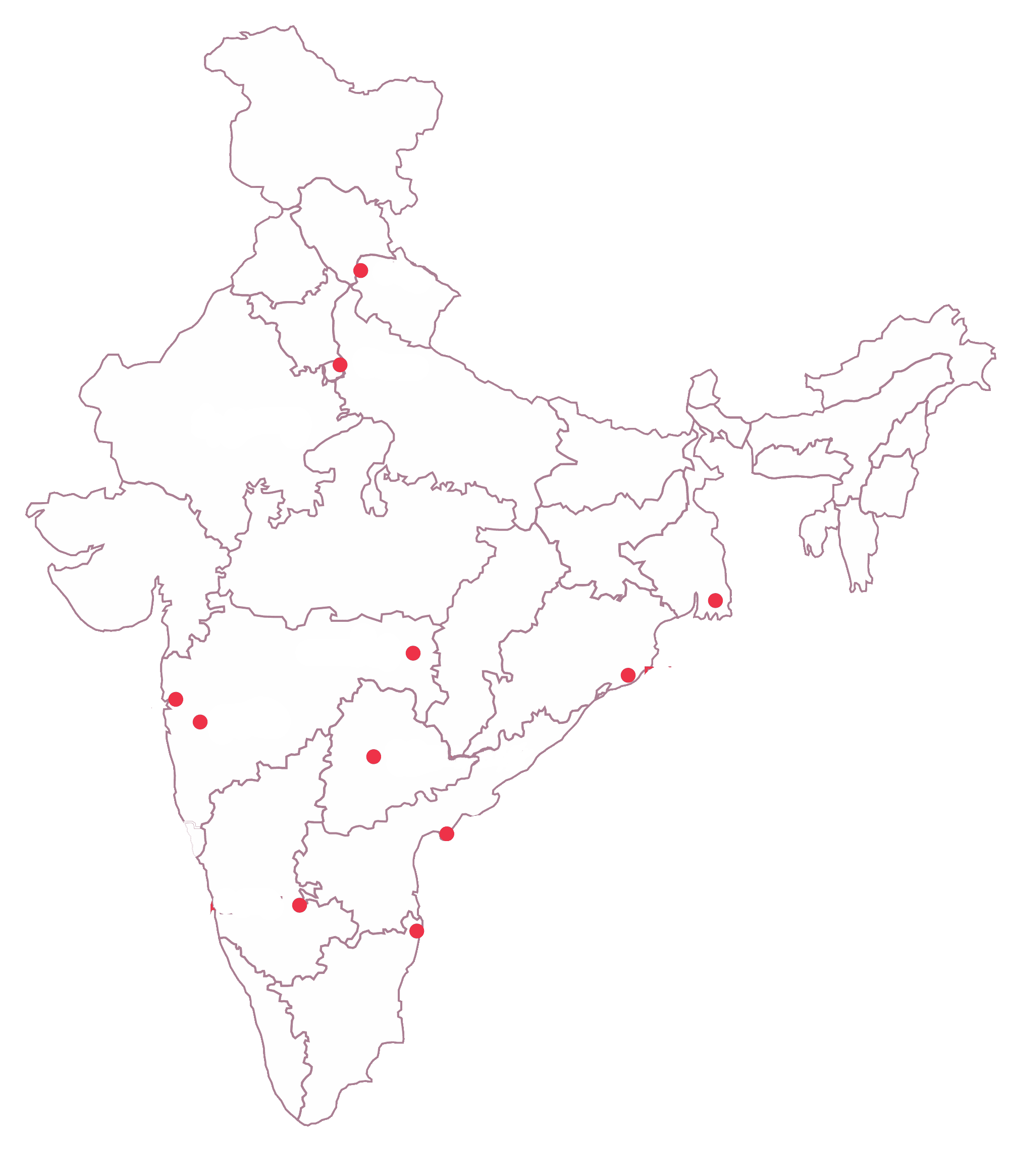 Tech Mahindra Foundation Our Presence MAP Updated