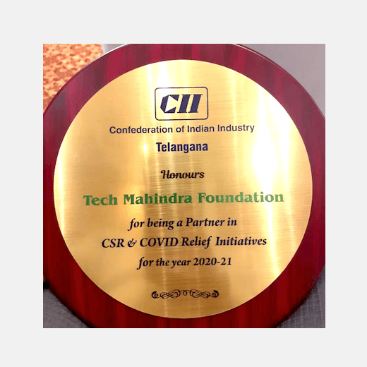 CII Telangana honours for being a Partner in CSR & COVID Relief Initiatives for the year 2020-21