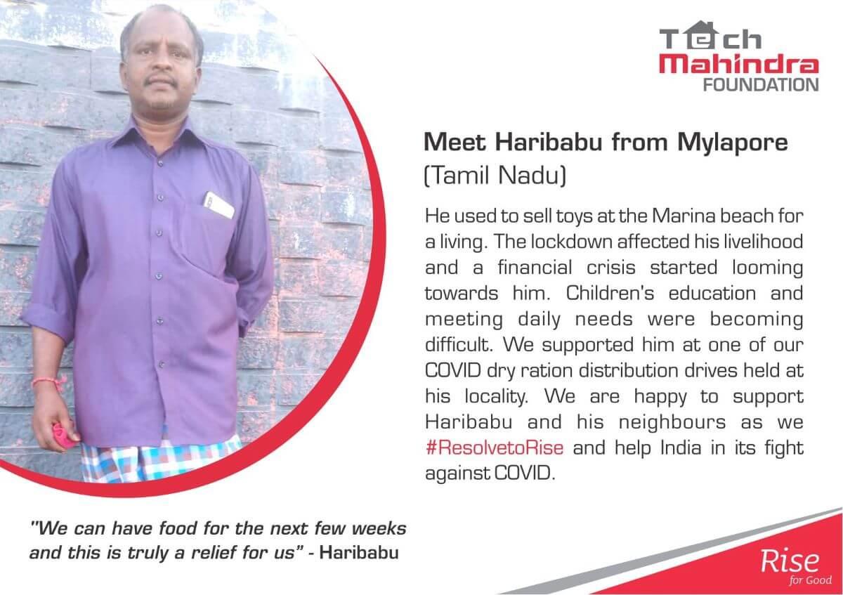 Beneficiary Story Chennai COVID program - Haribabu (1)
