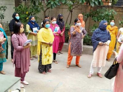 COVID Swayam Suraksha training to Anganwadi Workers