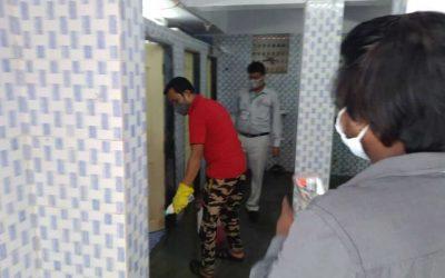 Cleaning of Community Toilets in Mumbai Slum Areas